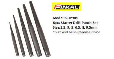 FINKAL SDP901 STARTER DRIFT PUNCH SET