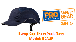 PROCHOICE BCNSP BUMP CAP SHORT PEAK NAVY