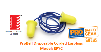 PROCHOICE EPYC PROBELL DISPOSABLE CORDED EARPLUGS