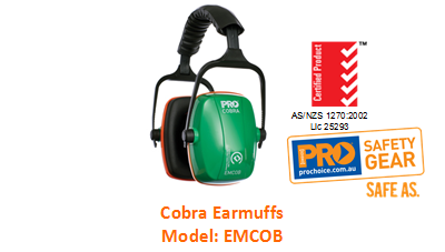 PROCHOICE EMCOB COBRA EARMUFFS