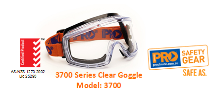 PROCHOICE 3700 SERIES CLEAR GOGGLE