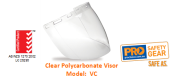 PROCHOICE VC CLEAR POLYCARBONATE VISOR