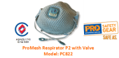 PROCHOICE PC822 PROMESH RESPIRATOR P2 WITH VALVE