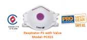 PROCHOICE PC315 RESPIRATOR P1 WITH VALVE