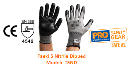 PROCHOICE T5ND TAEKI 6 NITRILE DIPPED