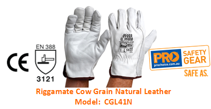 PROCHOICE CGL41N RIGGAMATE COW GRAIN NATURAL LEATHER