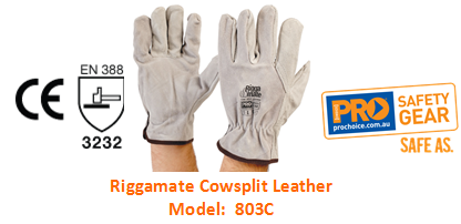 PROCHOICE 803C RIGGAMATE COWSPLIT LEATHER