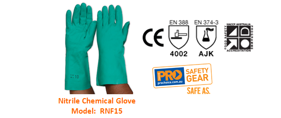 PROCHOICE RNF15 NITRILE CHEMICAL GLOVE