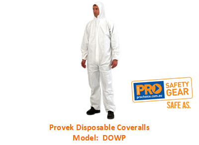 PROCHOICE DOWP PROVEK DISPOSABLE COVERALLS