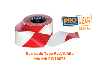 PROCHOICE RW10075 BARRICADE TAPE - RED/WHITE