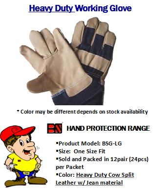 BS BSG-LG HEAVY DUTY WORKING GLOVE