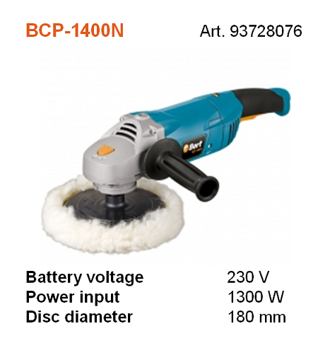 BORT BCP-1400N POLISHING SPONGE 180MM (VELCRO TYPE)