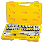 "1/2"""" DR 32PCS SOCKET SET W/ EXTENSION & SLIDING BAR"