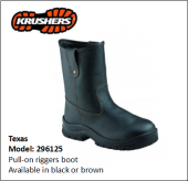 TEXAS BLACK PULL-ON RIGGERS BOOT
