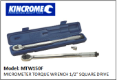 "KINCROME MTW150F MICROMETER TORQUE WRENCH 1/2"" SQUARE DRIVE"