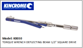"KINCROME K8030 TORQUE WRENCH DEFLECTING BEAM 1/2"" SQUARE DRIVE"