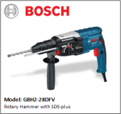 BOSCH GBH2-28DFV Rotary Hammer with SDS-plus