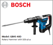 BOSCH GBH5-40D Rotary Hammer with SDS-max