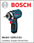 BOSCH GDR10.8LI Cordless Impact Wrenches