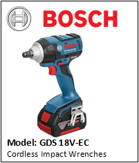 BOSCH GDS 18 V-EC Cordless Impact Wrenches