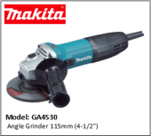 "MAKITA GA4530 ANGLE GRINDER 115MM (4-1/2"")"