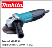 MAKITA GA4534 115MM (4-1/2) ANGLE GRINDER