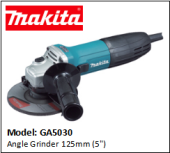 "MAKITA GA5030 ANGLE GRINDER 125MM (5"")"