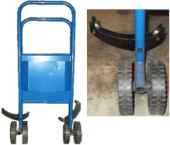 STEEL STRAPPING DISPENSER TROLLEY