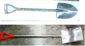 POINT SHOVEL (STAINLESS STEEL HANDLE)
