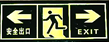 "REFLECTIVE SAFETY SIGNAGE ""BOTH SIDE EXIT"""