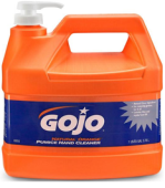 GOJO NATURAL ORANGE PUMICE HAND CLEANER WITH PUMP