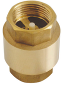 BRASS LOADED SPRING CHECK VALVE 1""