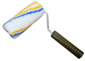 "PAINT ROLLER 6"" WITH HANDLE (BLUE YELLOW STRIPE)"