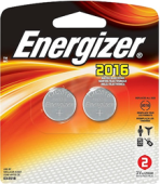 ENERGIZER 3V LITHIUM BATTERY CR2016 (2 PCS)