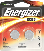 ENERGIZER 3V LITHIUM BATTERY CR2025 (2 PCS)