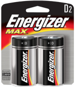 ENERGIZER D BATTERY (2 PCS)