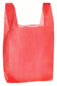 "SMALL RED PLASTIC BAG ""1 PKS"""
