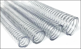 "BS PVC SPRING HOSE 1"" (CHINA) - PER METER"