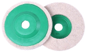 "4"" X 16MM (COVER GREEN)  LAMBSWOOL DISC"