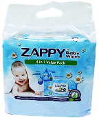 ZAPPY BABY WIPES 4 IN 1 (VALUE PACK)
