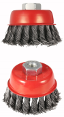 "SANKI TWINE WIRE CUP BRUSH (4""xM14)"