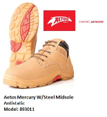 AETOS 893011 MERCURY LACE-UP SAFETY SHOE- NEW VERSION