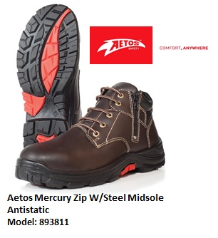 AETOS 893811 MERCURY LACE ZIP-UP SAFETY SHOE- NEW VERISION