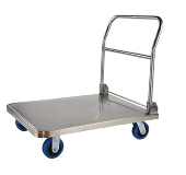 "24X36"" STAINLESS STEEL FOLDABLE PLATFORM TROLLEY 300KG"