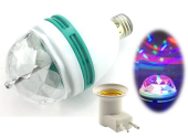 LED PARTY BLUB/ LIGHT E27 C/W PLUG HOLDER