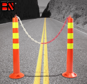 SAFETY PVC REFLECTIVE TRAFFIC GUIDE POST W/ MAGNET
